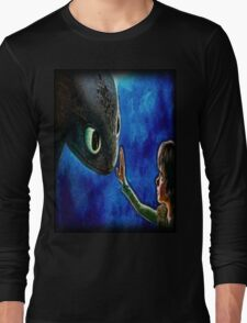Hiccup And Toothless The Black Night Fury Dragon Long Sleeve T-Shirt