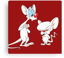 Best Friend Pinky And Brain Canvas Print