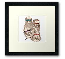 Leonardo, Michelangelo, Donatello, and Raphael... Oh and Splinter Framed Print