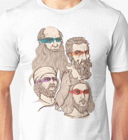 Leonardo, Michelangelo, Donatello, and Raphael... Oh and Splinter Unisex T-Shirt