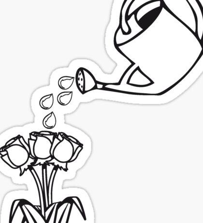 Garden watering flowers Sticker