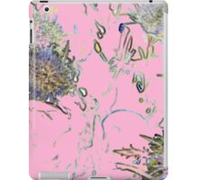 Retro floral pattern in pink iPad Case/Skin
