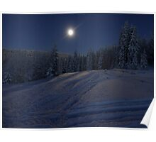 winter scene at night Poster