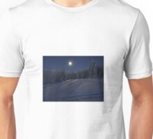 winter scene at night Unisex T-Shirt