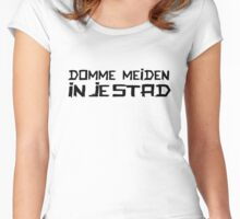 DOMME MEIDEN IN JE STAD Women's Fitted Scoop T-Shirt