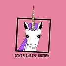 DON'T BLAME THE UNICORN by Jean Gregory  Evans