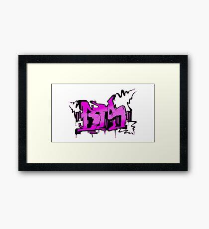 BTS War of Hormones Grafitti Framed Print