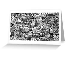 Amazing Stickers Black and White (White) Greeting Card