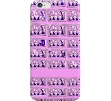 Gridlock abstract  pink white blue iPhone Case/Skin