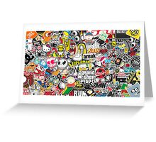 Amazing Stickers Colored (Orange) Greeting Card