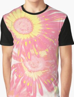 Romantic Pink Flowers Graphic T-Shirt