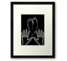 Your heart in my hands Framed Print