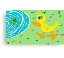 Picadilly Duck Canvas Print