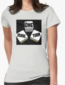 One More Turn Logo Womens Fitted T-Shirt
