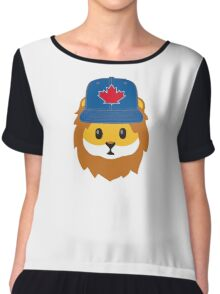 Blue Jays No Fear Lion Emoji Chiffon Top