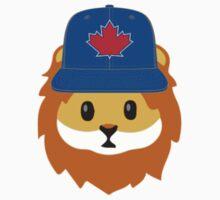 Blue Jays No Fear Lion Emoji Kids Tee