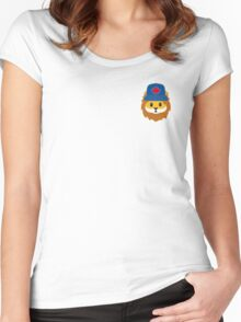 Blue Jays No Fear Lion Emoji Women's Fitted Scoop T-Shirt