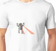 robot with xray eyes Unisex T-Shirt