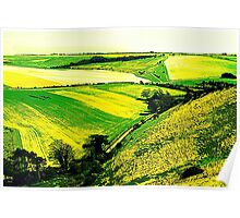 Downland Abstract Poster