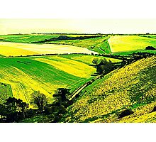 Downland Abstract Photographic Print