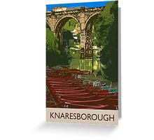 Knaresborough, river Greeting Card