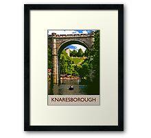 Knaresborough, boating Framed Print
