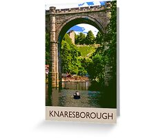 Knaresborough, boating Greeting Card