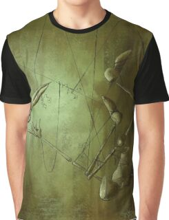 Reaching for Scissors, Creepy Puppet Painting Graphic T-Shirt