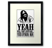 The Dude Abides The Big Lebowski Framed Print