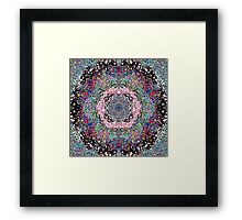 Black Lines Under The Rainbow Framed Print