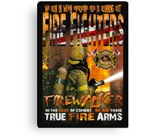 american fire firghter Canvas Print