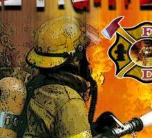 american fire firghter Sticker