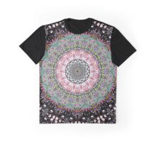 Black Lines Under The Rainbow Kaleidoscope Graphic T-Shirt