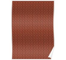 Cast-on stitches: Brick Red Poster