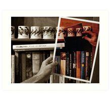 Photos & Books Art Print