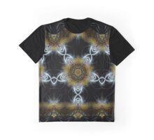 Golden Fractal Shields Graphic T-Shirt