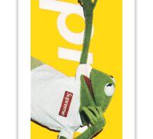 Supreme Kermit (Yellow) Sticker