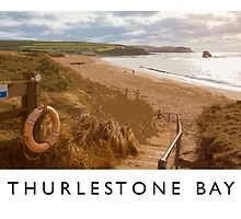 Thurlestone Bay (Railway Poster) by Andrew Roland