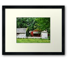 Red Farm Shed Framed Print