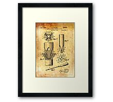 Patent Image - Screwdriver - Ancient Canvas Framed Print