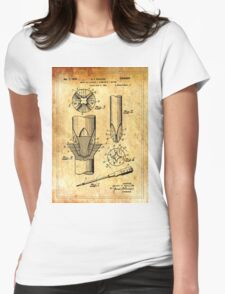 Patent Image - Screwdriver - Ancient Canvas Womens Fitted T-Shirt
