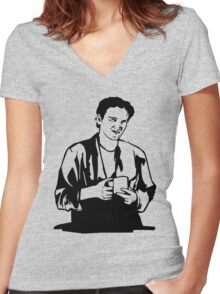 Quentin Tarantino Jimmy's Coffee Pulp Fiction Women's Fitted V-Neck T-Shirt