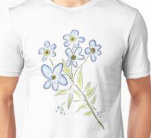 Digital Watercolour Forget-Me-Nots Unisex T-Shirt