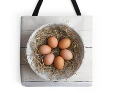 eggs in hay Tote Bag