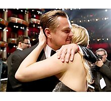 Leonardo Dicaprio and Kate Winslet Oscars Photographic Print