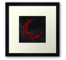 Crescent Moon - Blood Edition Framed Print