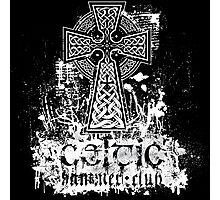 'Grunge' Celtic Cross Photographic Print