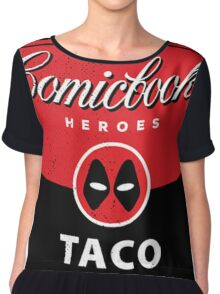 Comicbook Taco Soup Chiffon Top