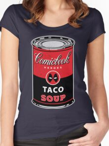 Comicbook Taco Soup Women's Fitted Scoop T-Shirt