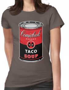Comicbook Taco Soup Womens Fitted T-Shirt